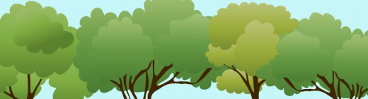 Tree header green wedding