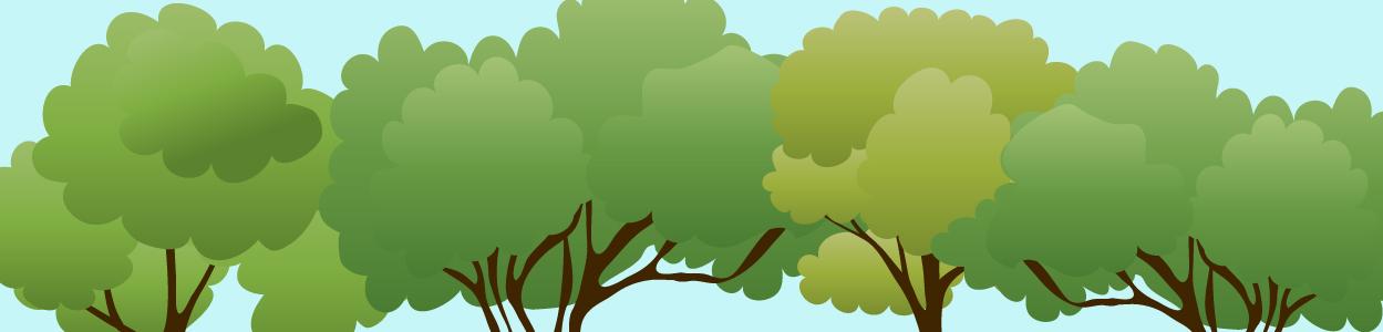 Tree header green wedding