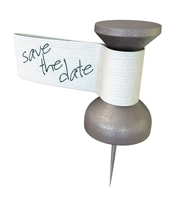 Save The Date Mteal Thumbtack