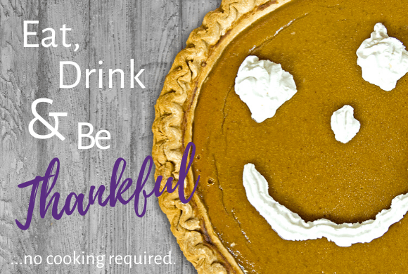 Don't let cooking and cleaning interfere with family time this Thanksgiving. Our done-for-you Thanksgiving dinner and touchless pick up let you eat, drink, and be thankful...no cooking required.