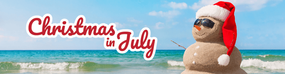 Stay cool with Christmas in July holiday party discounts!